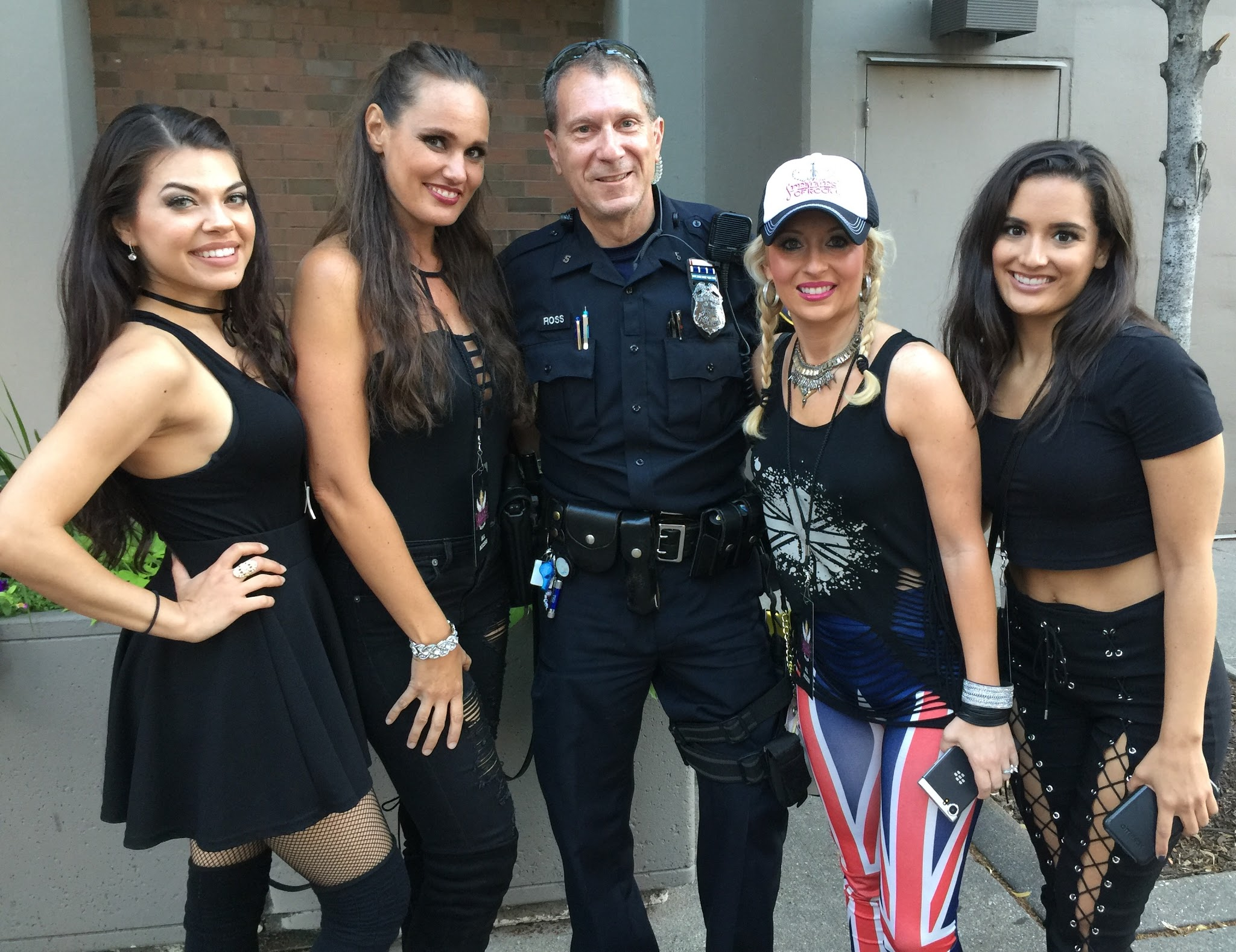 Mitch Ross of the Milwaukee PD with the Femmes.