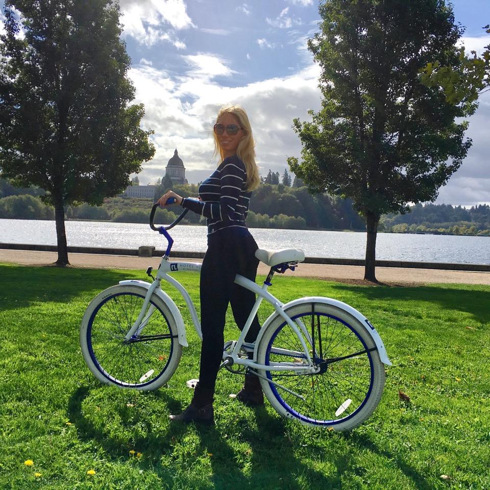 Me biking.